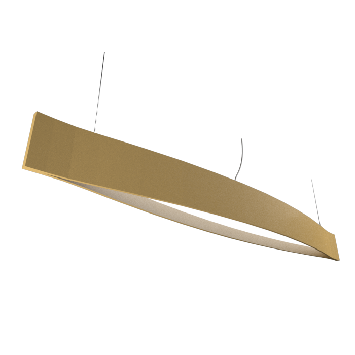 Pendant Lamp Accord Canoa 1279 LED - Clean Line Accord Lighting | Pale Gold