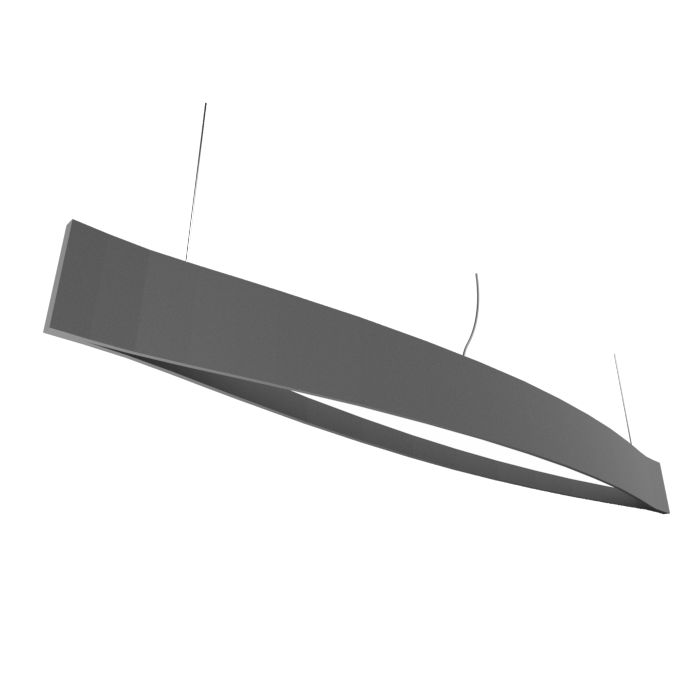 Pendant Lamp Accord Canoa 1279 LED - Clean Line Accord Lighting | Lead Grey