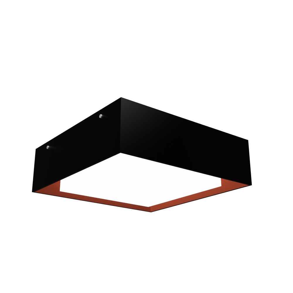 Ceiling Lamp Accord Meio Squadro 587CO - Meio Squadro Line Accord Lighting | 02. Matte Black