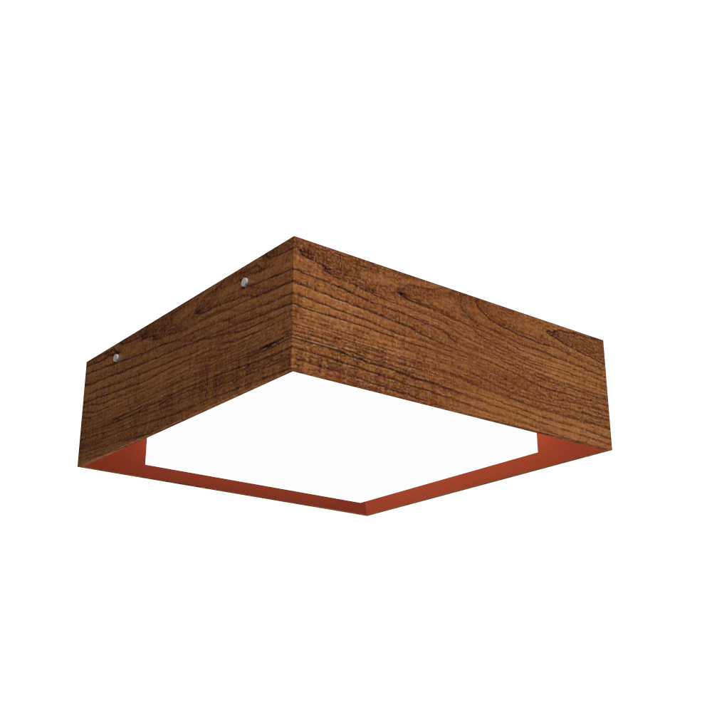 Ceiling Lamp Accord Meio Squadro 587CO - Meio Squadro Line Accord Lighting | 06. Imbuia