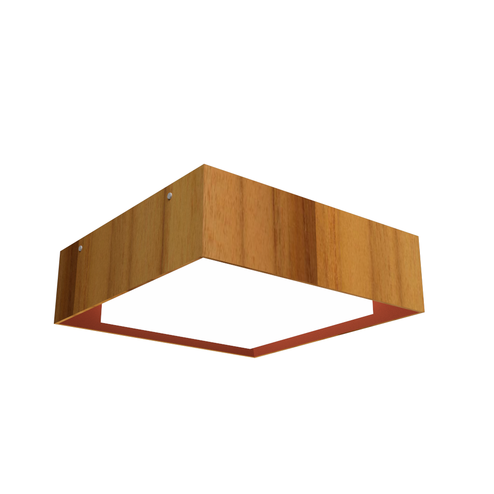 Ceiling Lamp Accord Meio Squadro 587CO - Meio Squadro Line Accord Lighting | 12. Teak