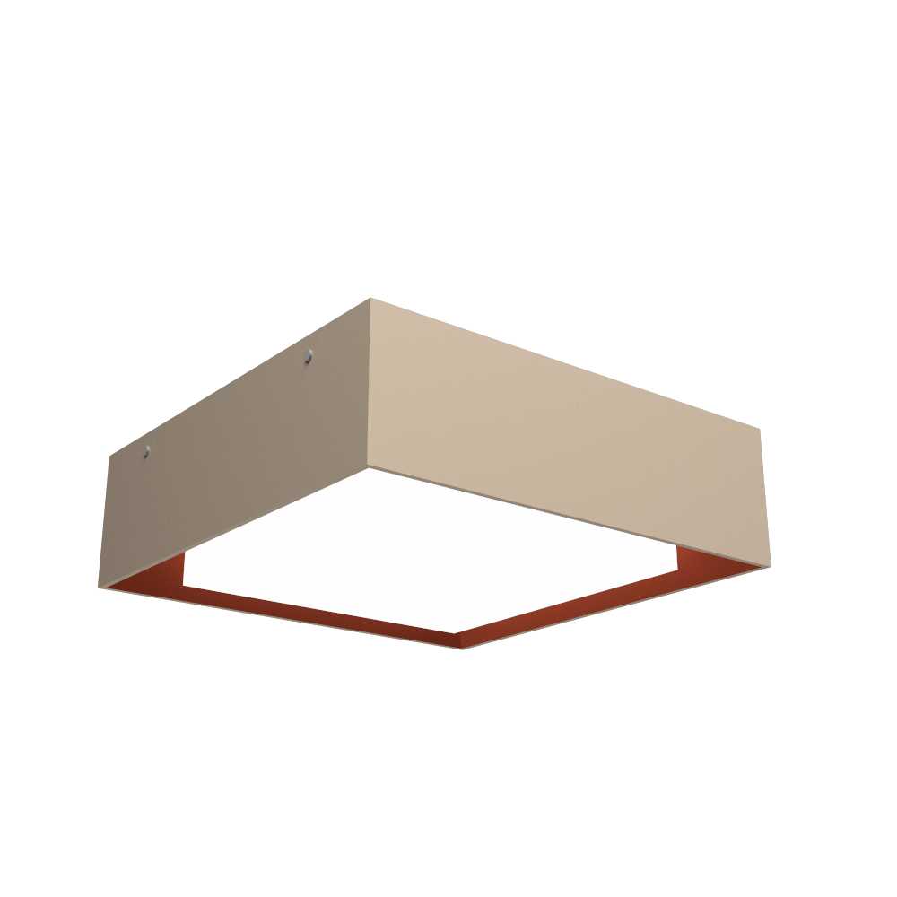Ceiling Lamp Accord Meio Squadro 587CO - Meio Squadro Line Accord Lighting | 15. Cappuccino