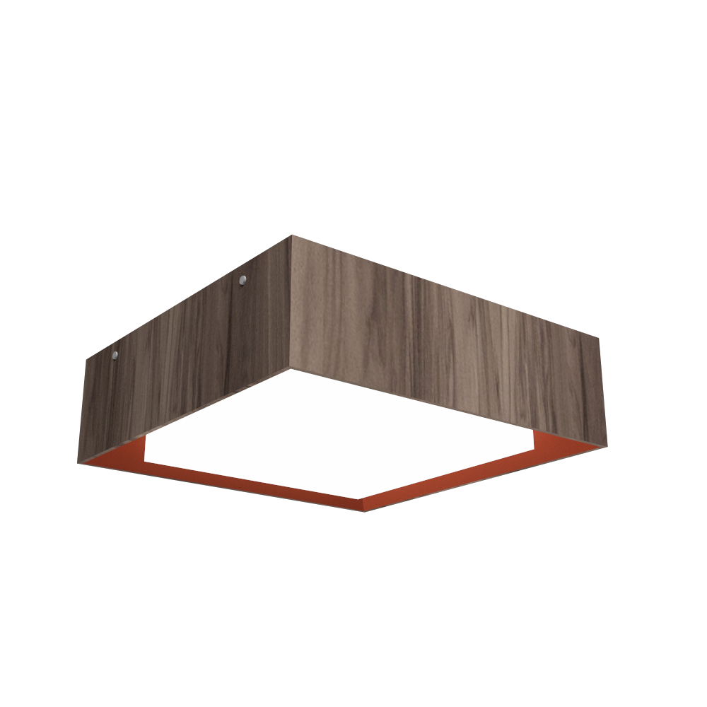 Ceiling Lamp Accord Meio Squadro 587CO - Meio Squadro Line Accord Lighting | 18. American Walnut