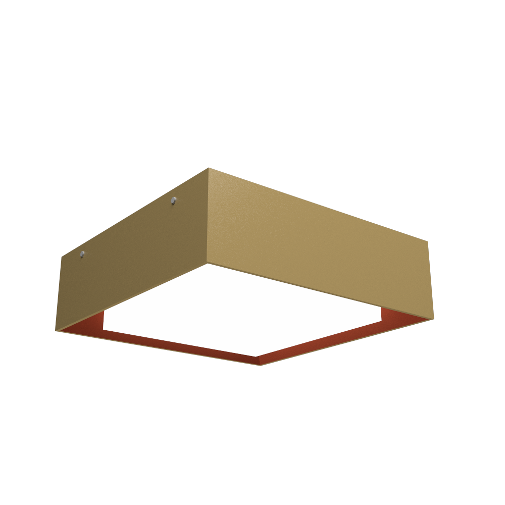 Ceiling Lamp Accord Meio Squadro 587CO - Meio Squadro Line Accord Lighting | Pale Gold