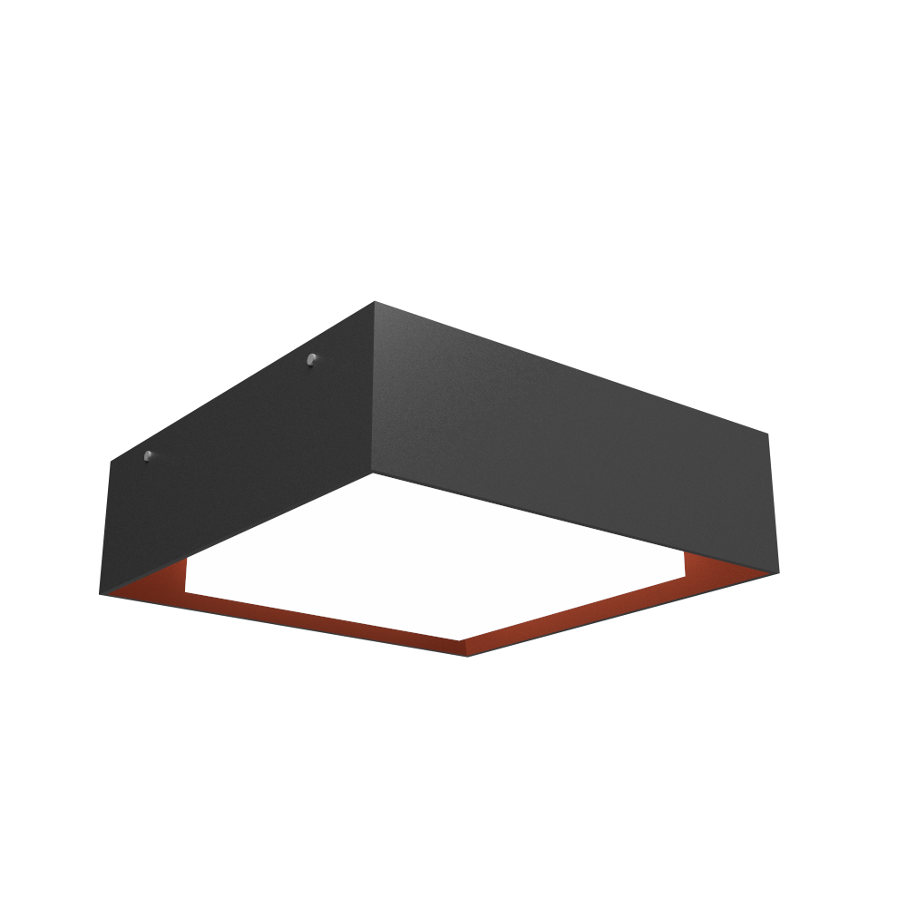 Ceiling Lamp Accord Meio Squadro 587CO - Meio Squadro Line Accord Lighting | Lead Grey