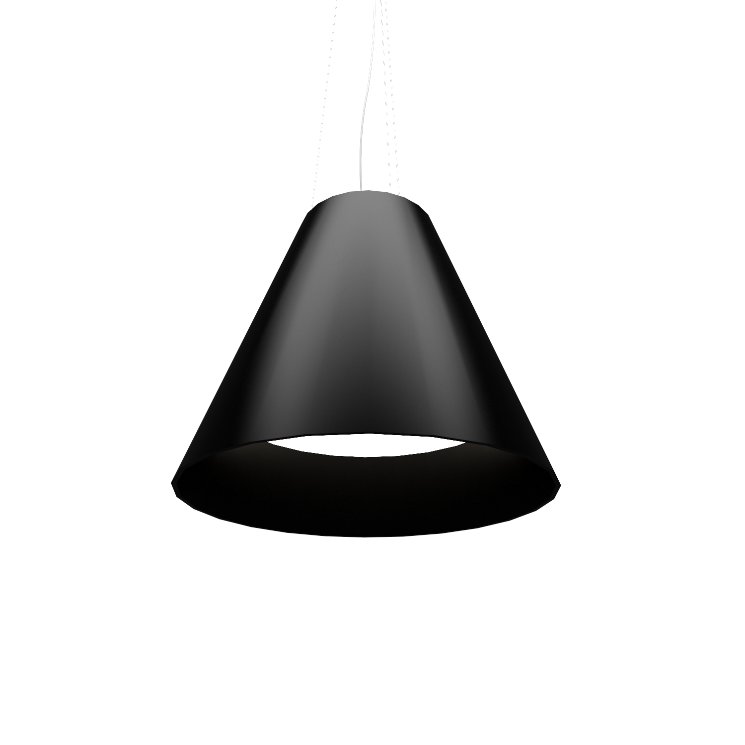 Pendant Lamp Accord Cônico 295 - Cônica Line Accord Lighting | 02. Matte Black