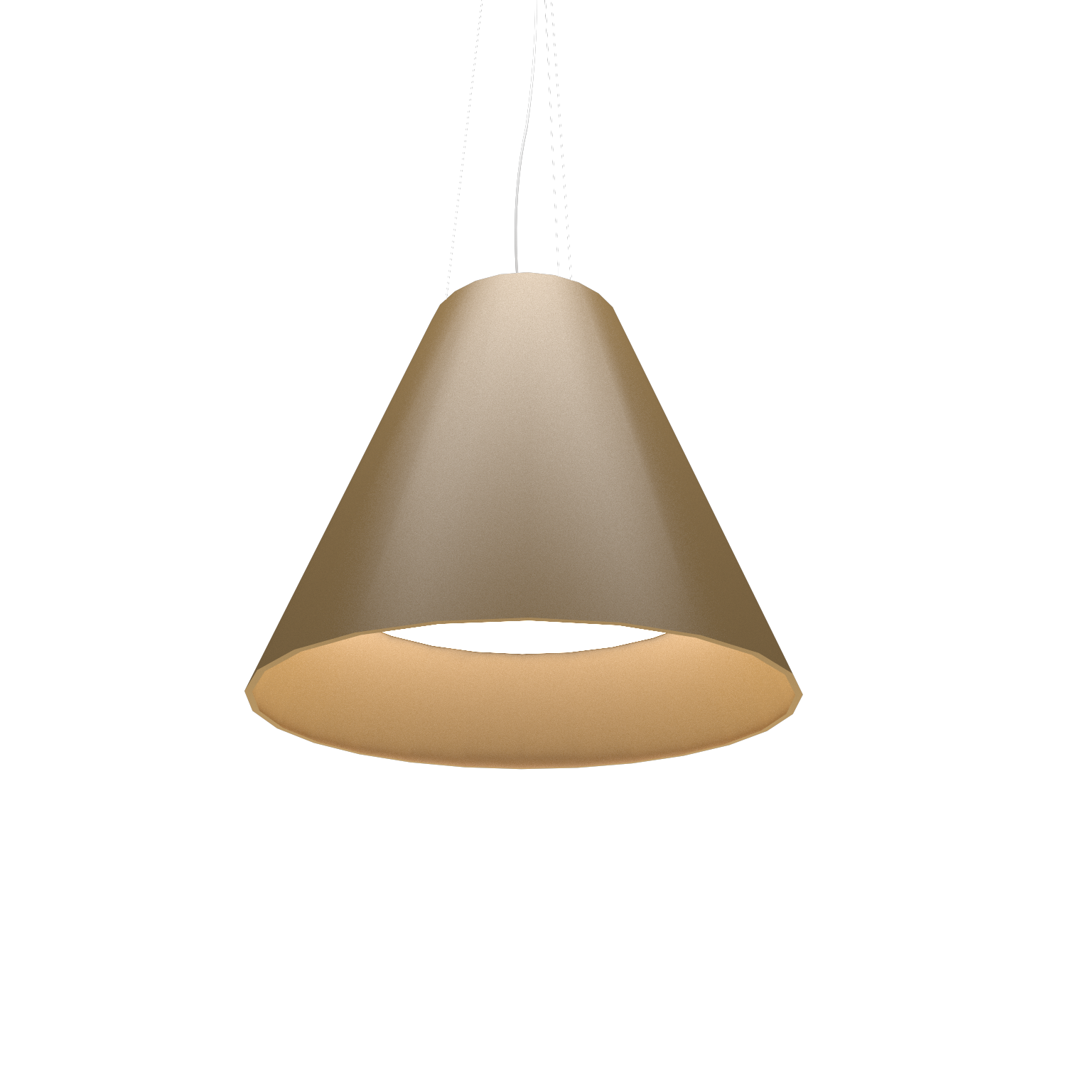 Pendant Lamp Accord Cônico 295 - Cônica Line Accord Lighting | 27. Gold