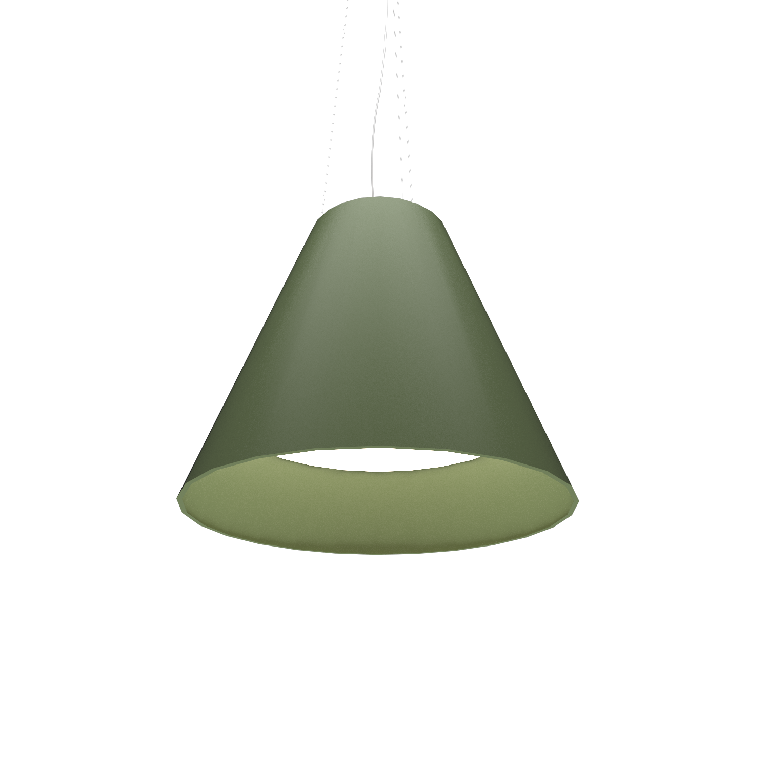 Pendant Lamp Accord Cônico 295 - Cônica Line Accord Lighting | 30. Olive Green