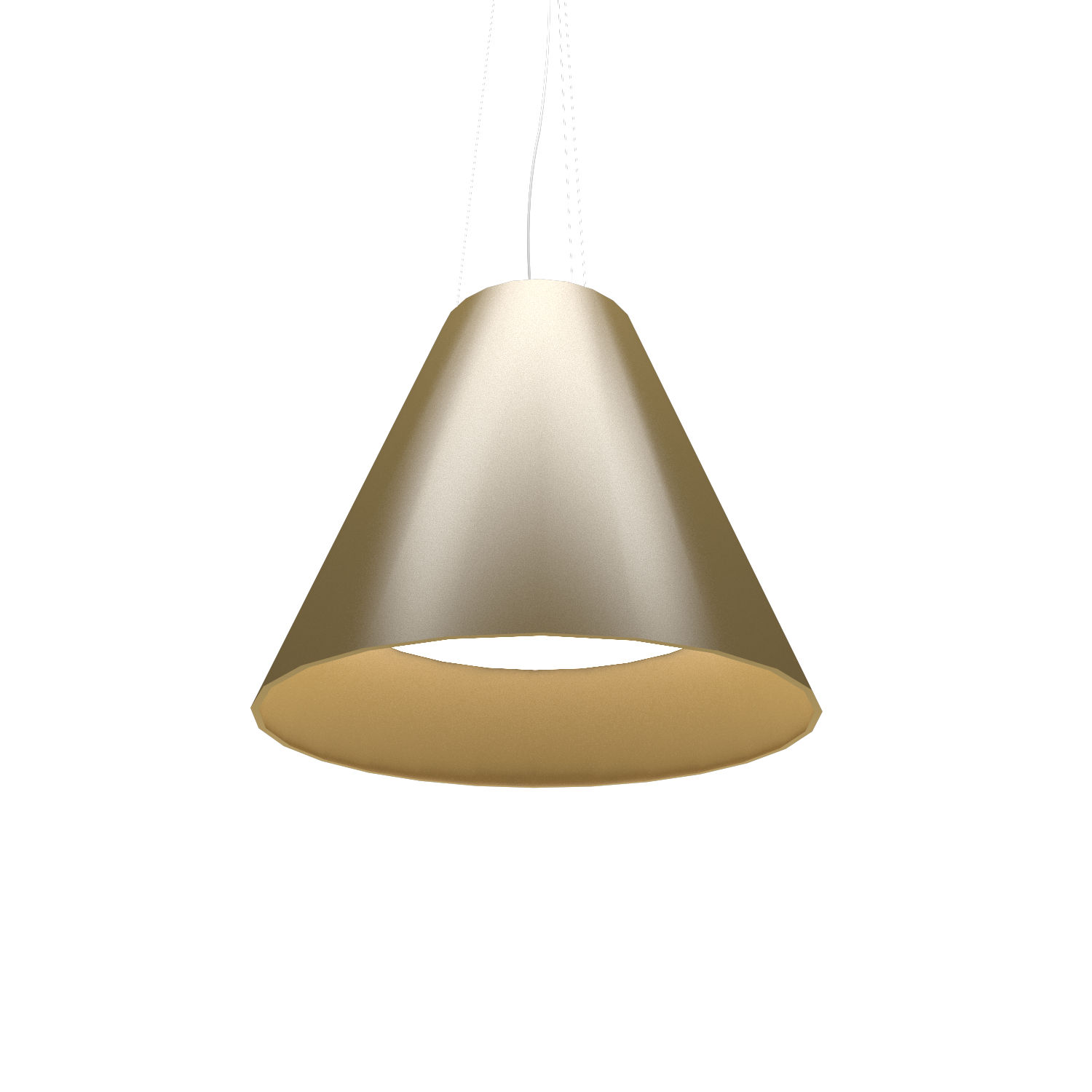 Pendant Lamp Accord Cônico 295 - Cônica Line Accord Lighting | Pale Gold