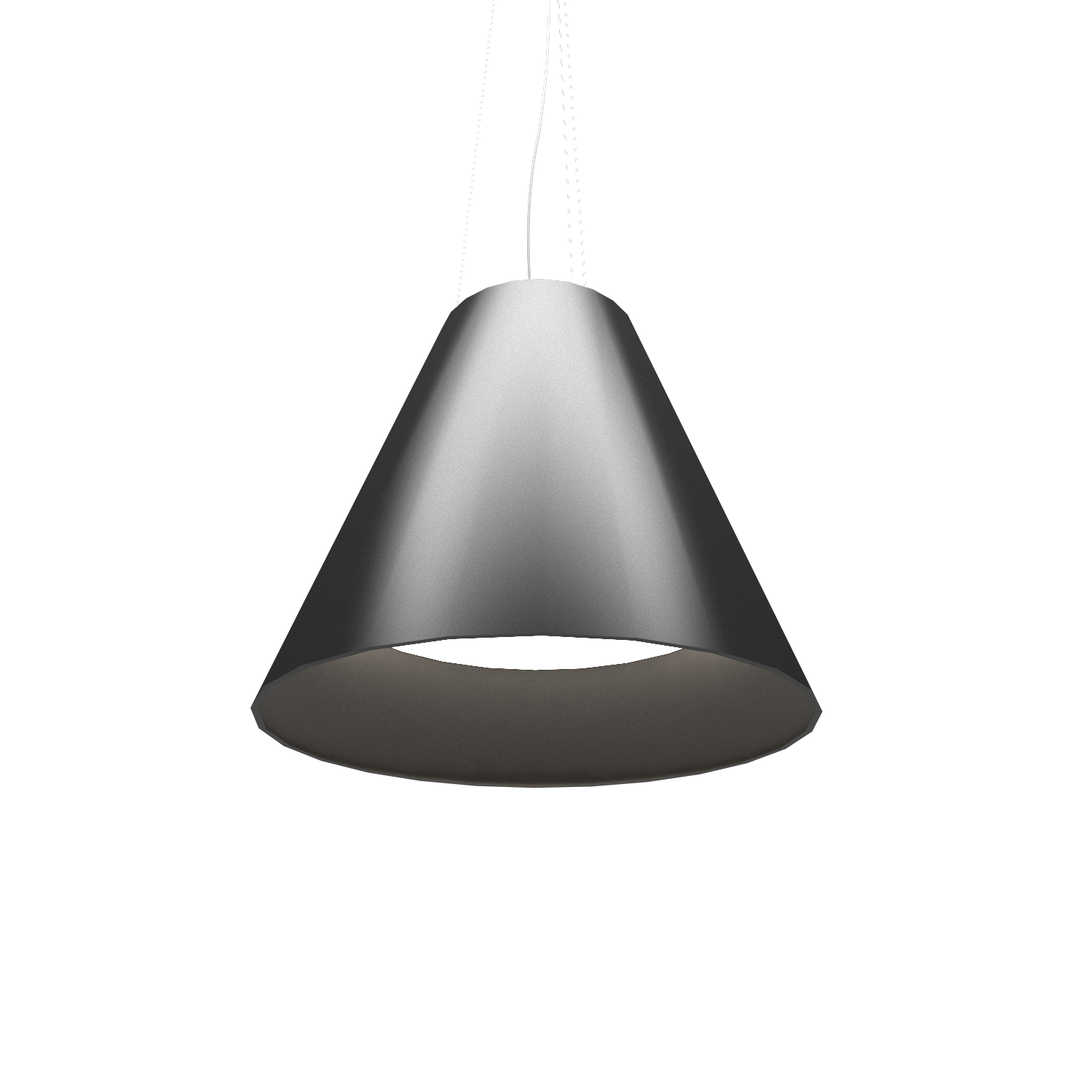 Pendant Lamp Accord Cônico 295 - Cônica Line Accord Lighting | Lead Grey