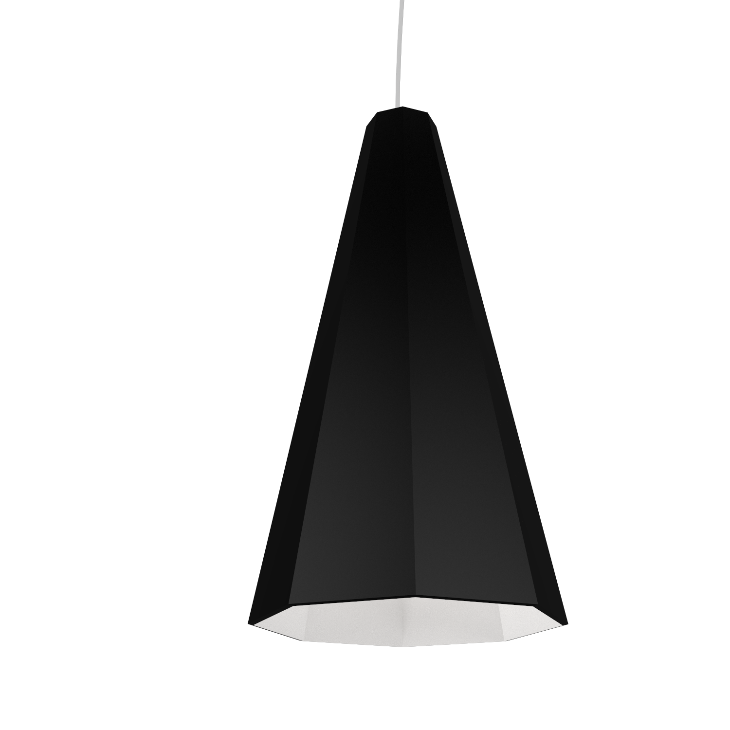 Pendant Lamp Accord Facetado 1231 - Facetada Line Accord Lighting | 02. Matte Black