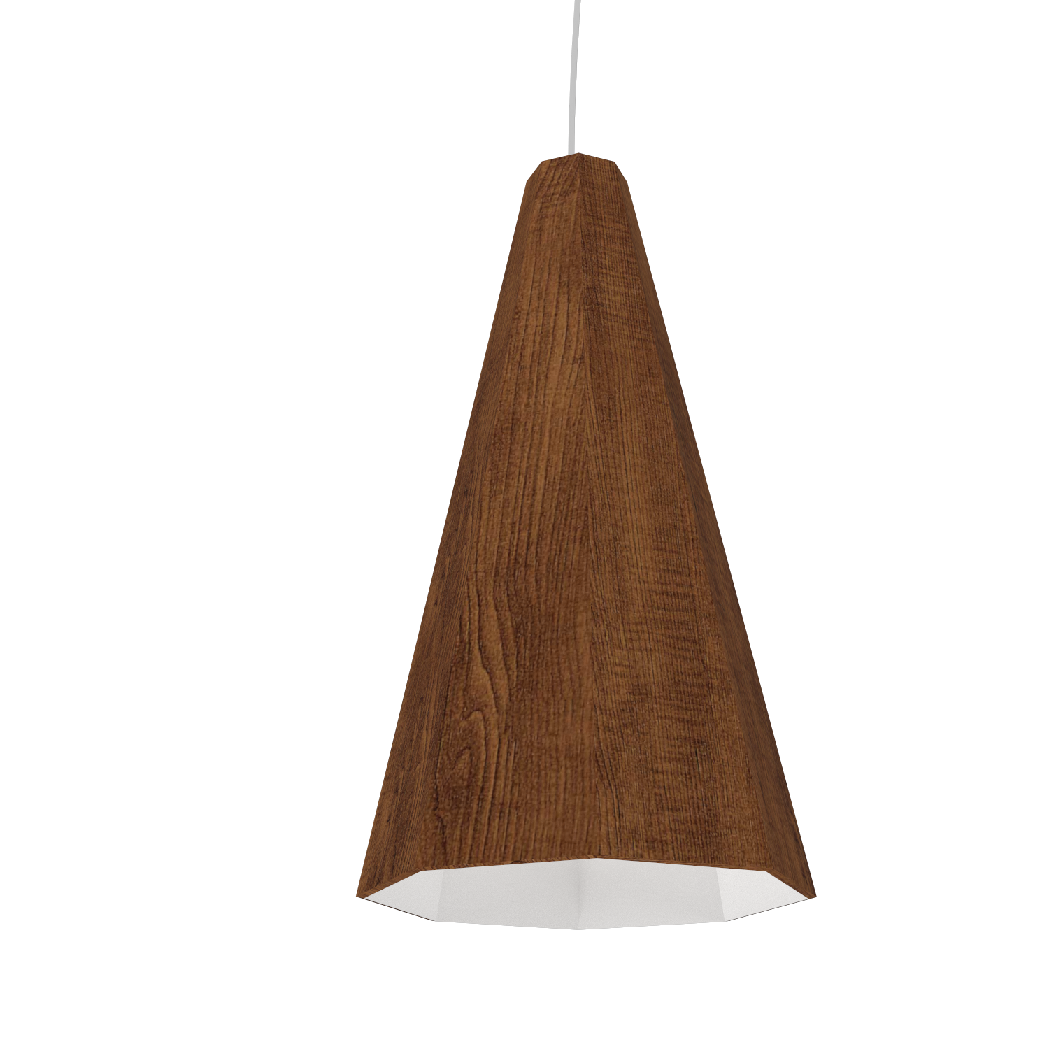 Pendant Lamp Accord Facetado 1231 - Facetada Line Accord Lighting | 06. Imbuia