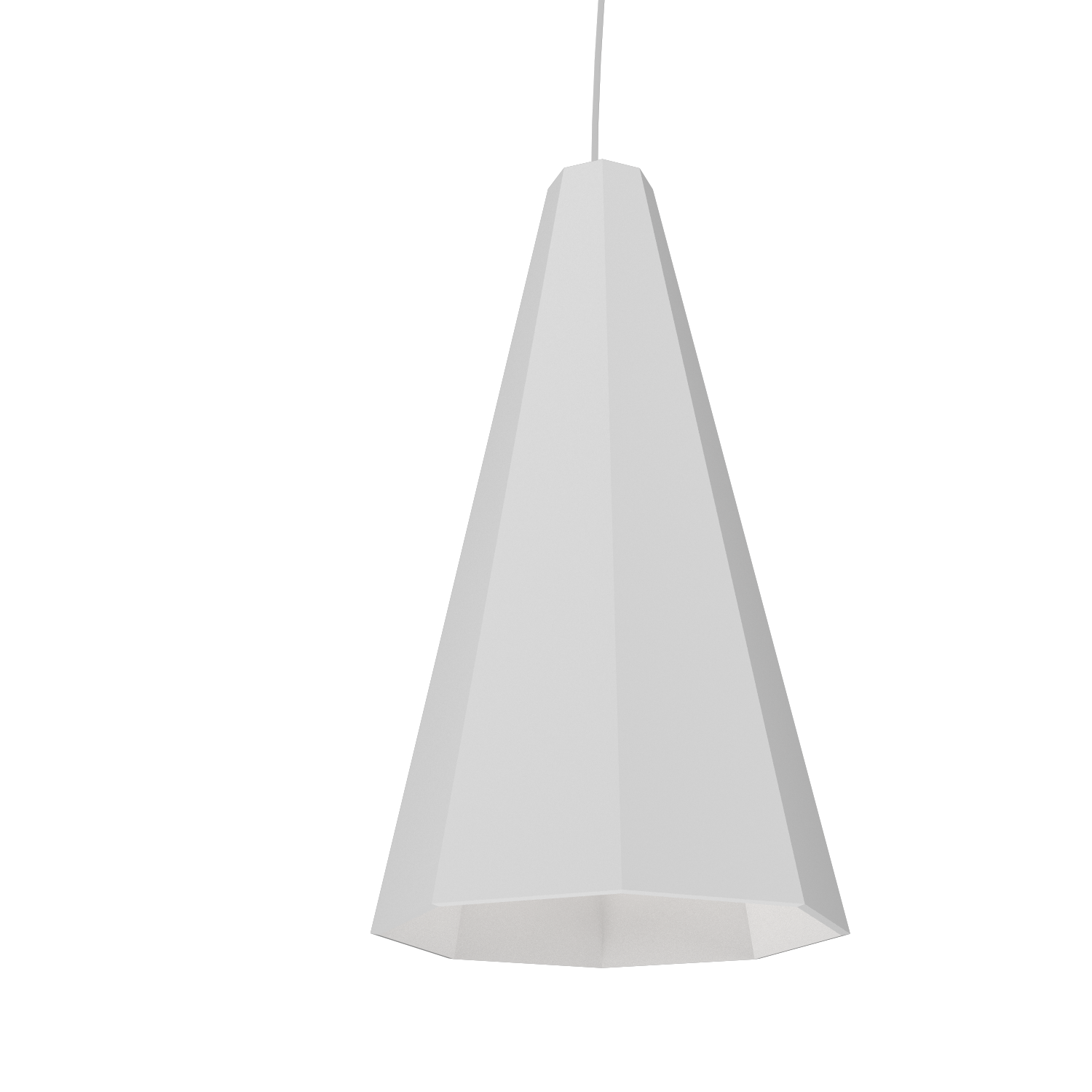 Pendant Lamp Accord Facetado 1231 - Facetada Line Accord Lighting | 07. White
