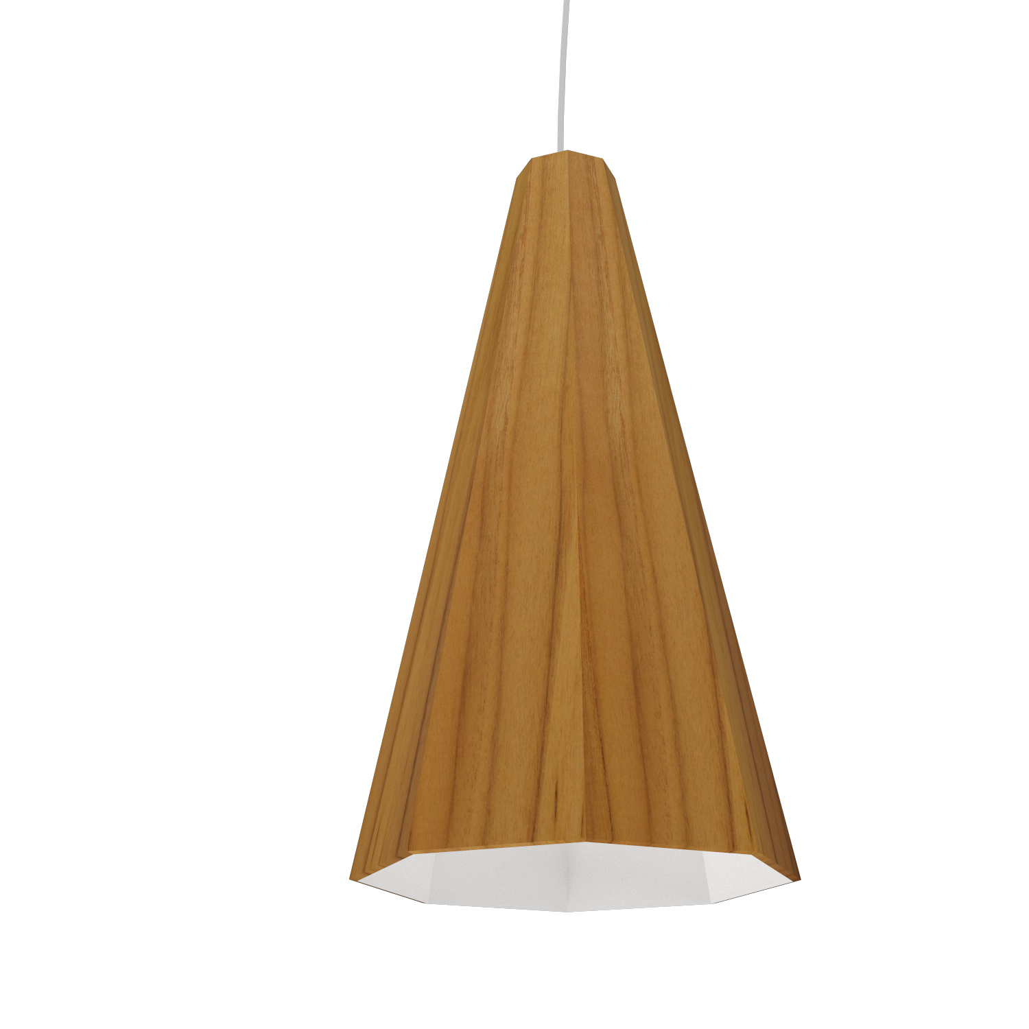 Pendant Lamp Accord Facetado 1231 - Facetada Line Accord Lighting | 12. Teak