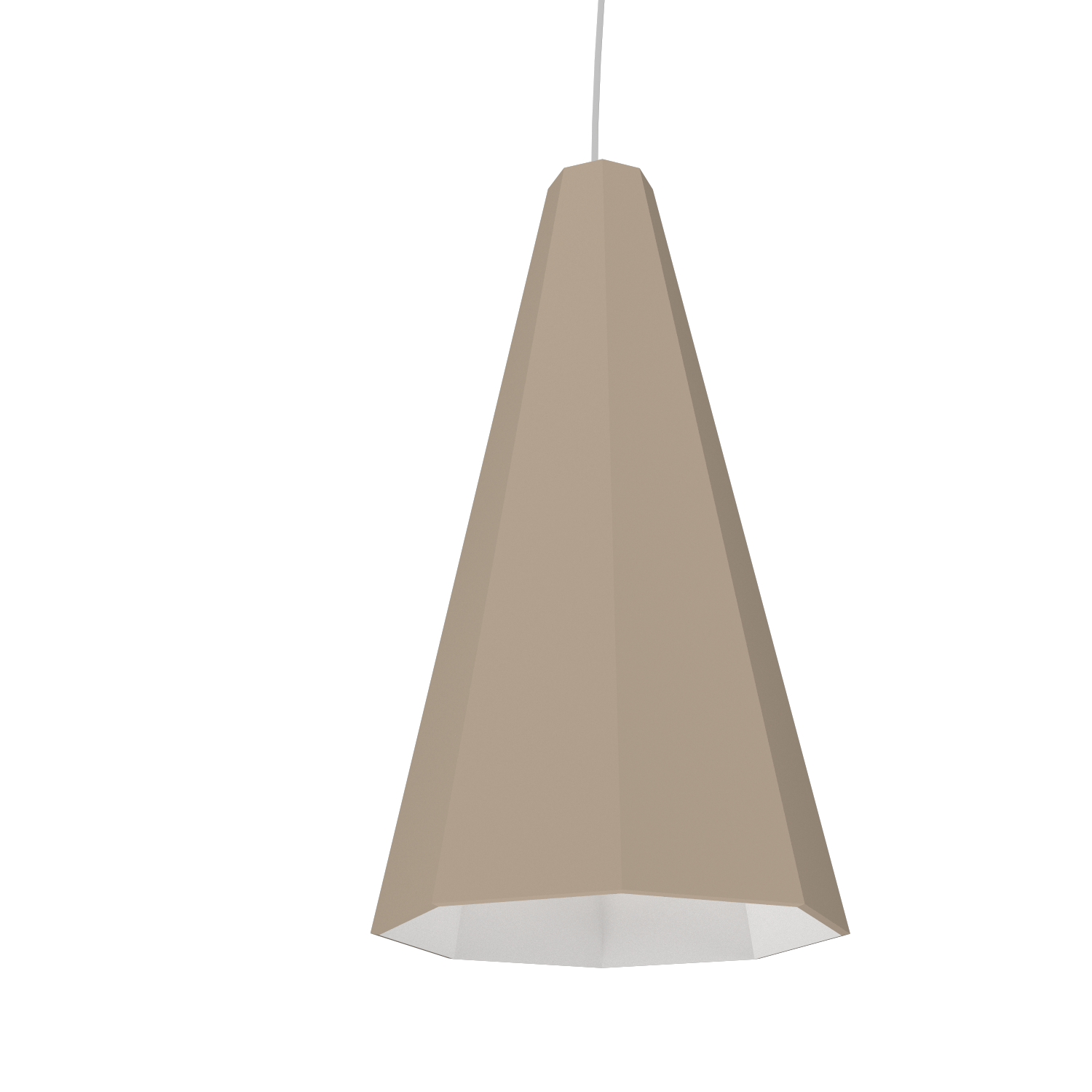 Pendant Lamp Accord Facetado 1231 - Facetada Line Accord Lighting | 15. Cappuccino