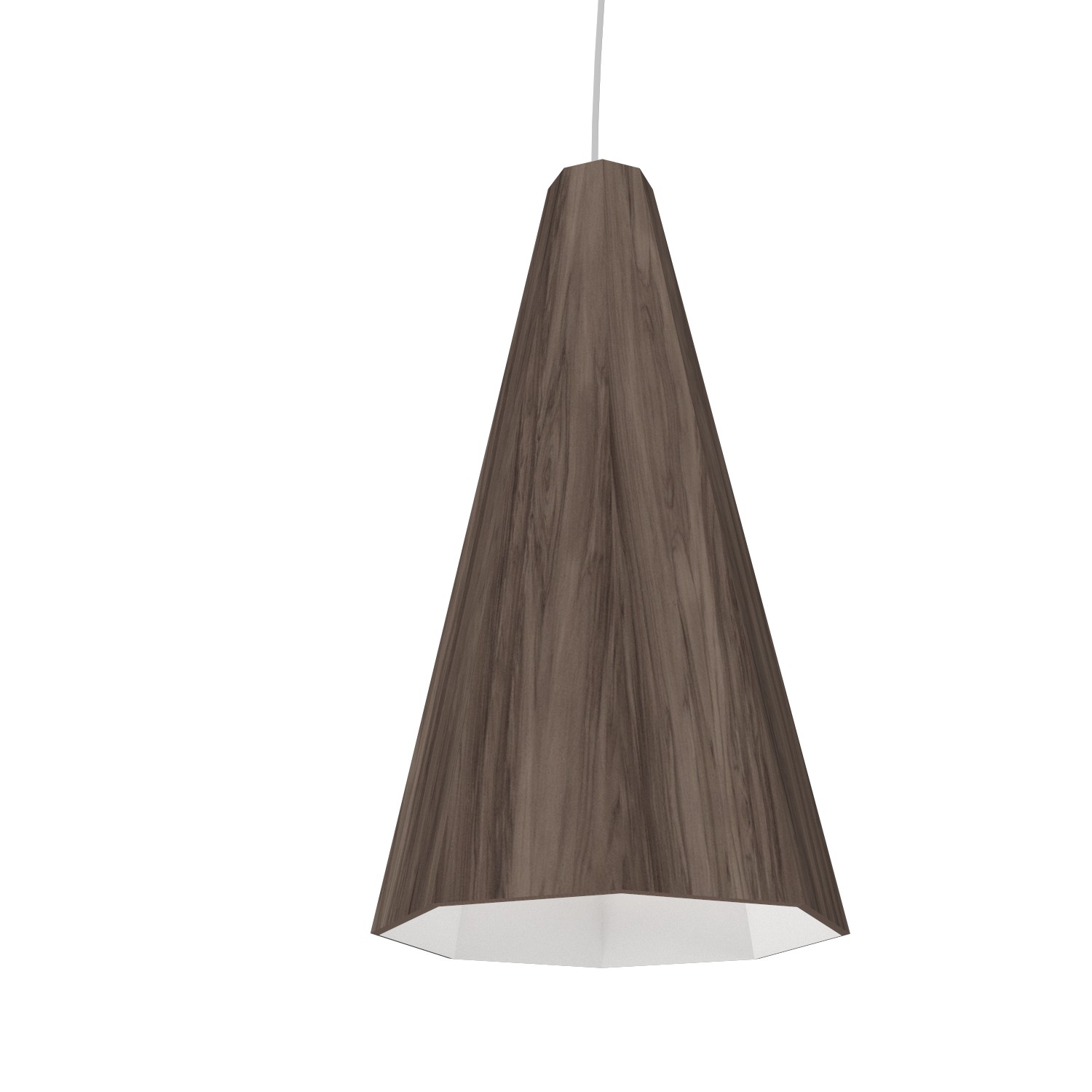 Pendant Lamp Accord Facetado 1231 - Facetada Line Accord Lighting | 18. American Walnut