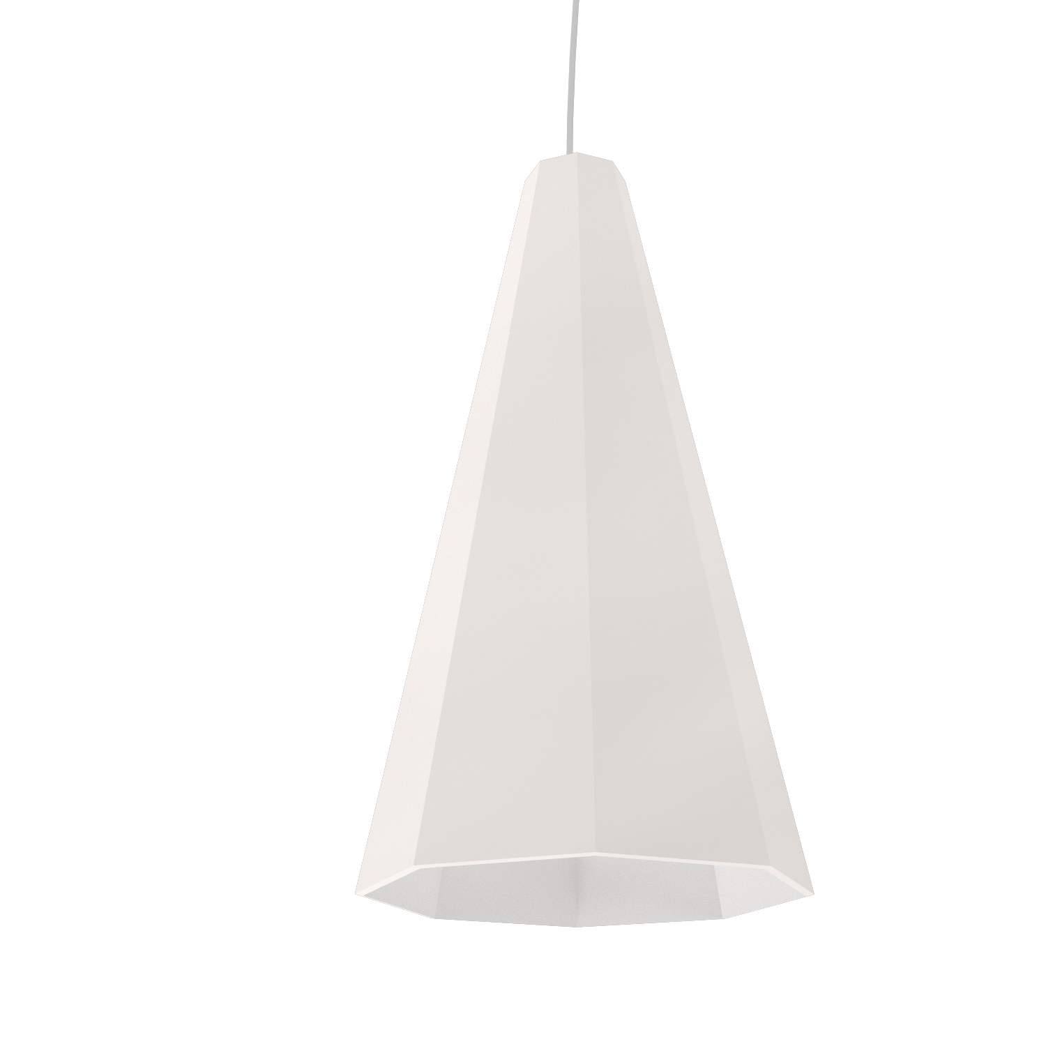 Pendant Lamp Accord Facetado 1231 - Facetada Line Accord Lighting | 25. Iredescent White