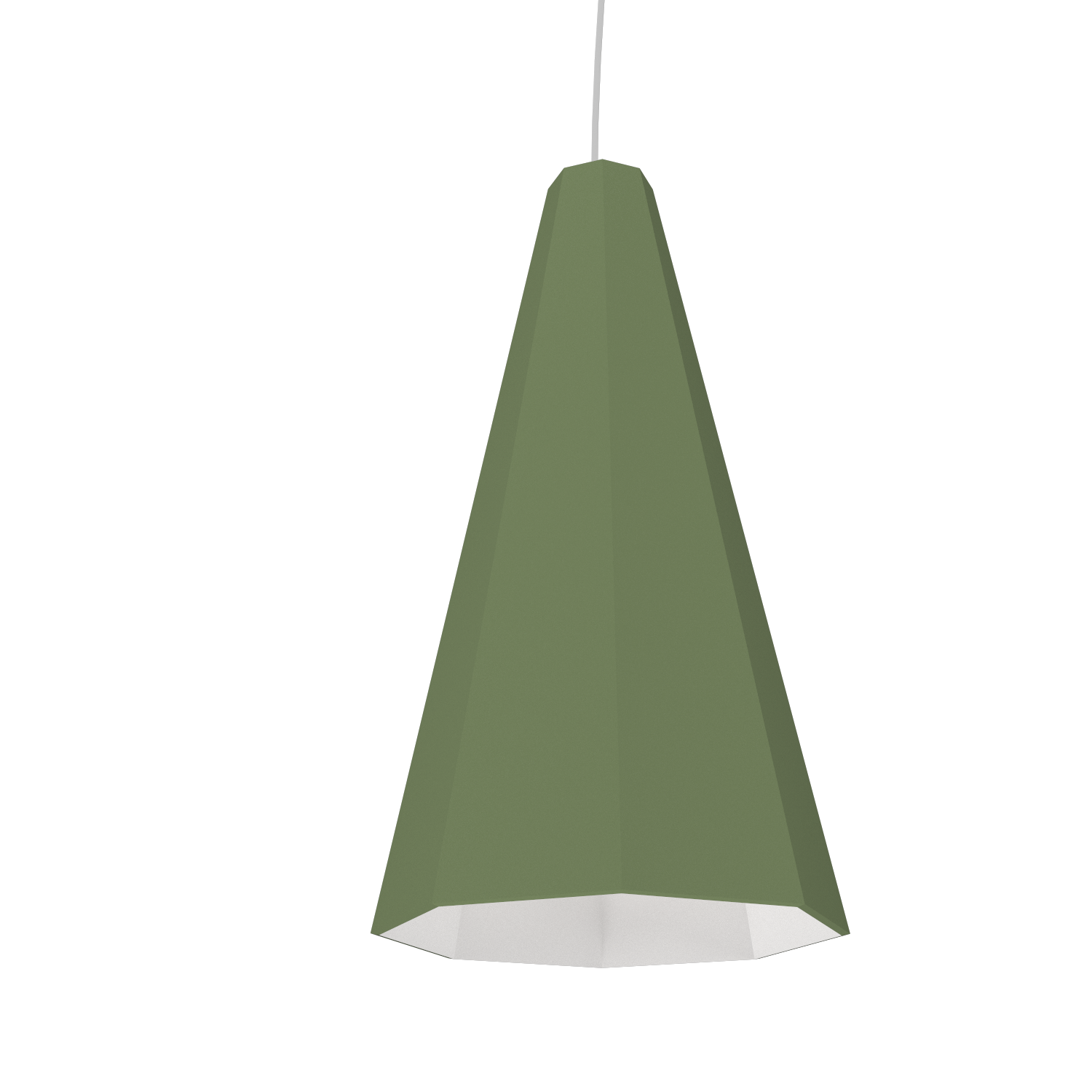Pendant Lamp Accord Facetado 1231 - Facetada Line Accord Lighting | 30. Olive Green