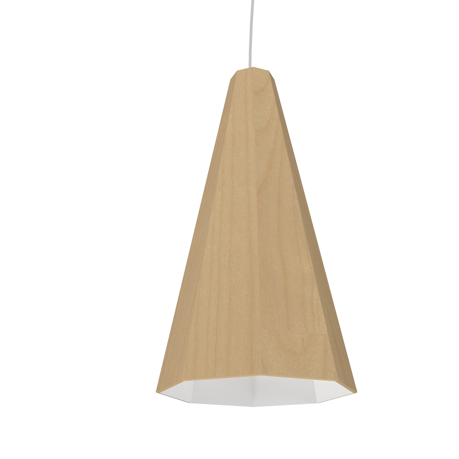 Pendant Lamp Accord Facetado 1231 - Facetada Line Accord Lighting | 34. Maple