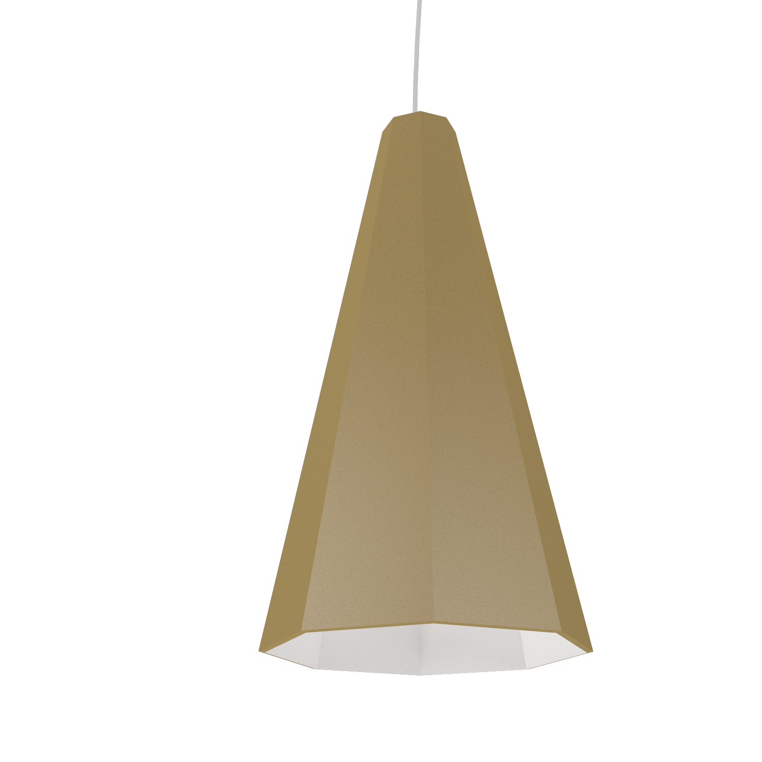 Pendant Lamp Accord Facetado 1231 - Facetada Line Accord Lighting | Pale Gold