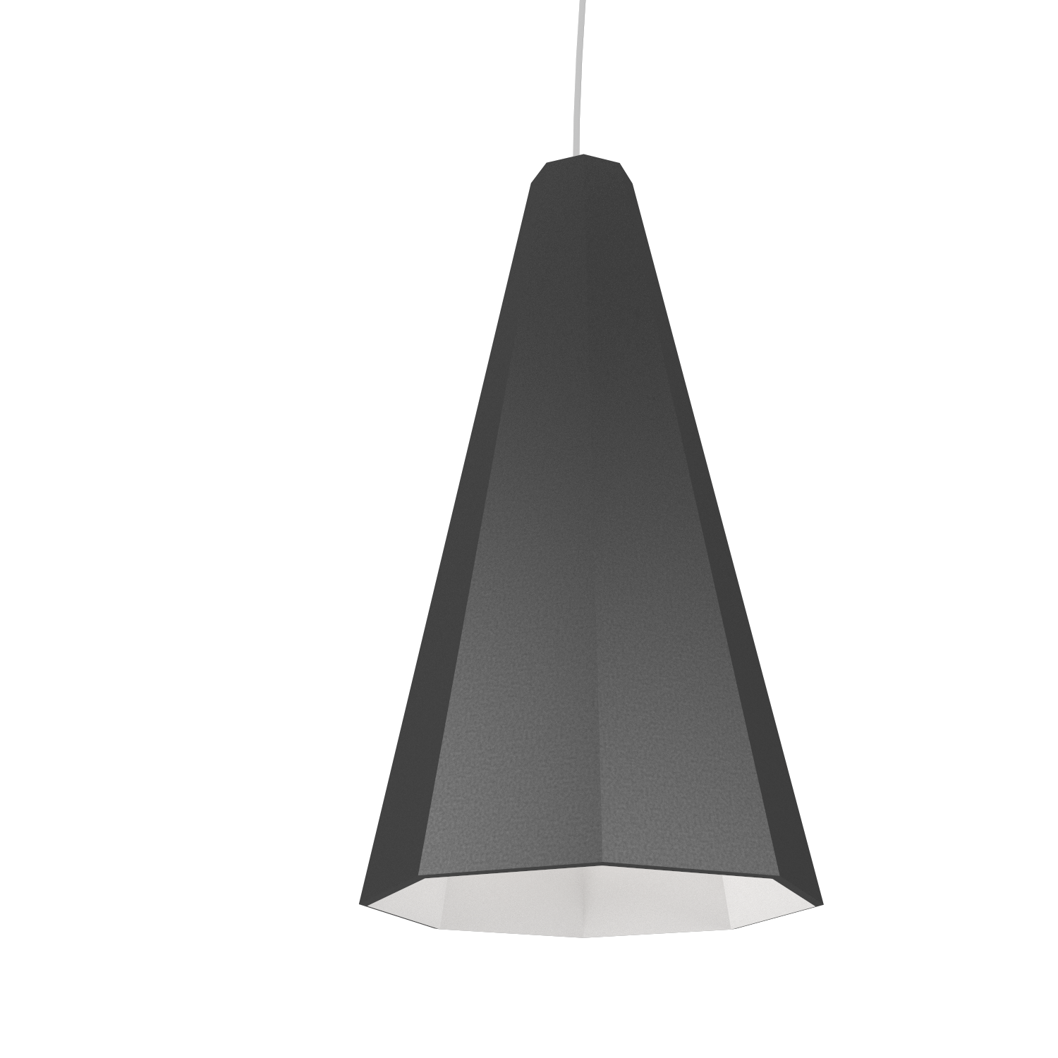 Pendant Lamp Accord Facetado 1231 - Facetada Line Accord Lighting | Lead Grey