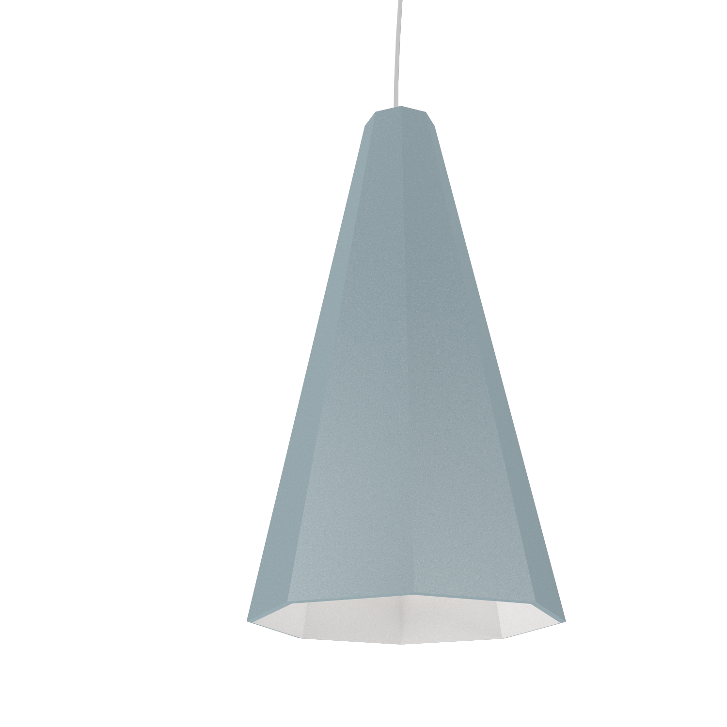 Pendant Lamp Accord Facetado 1231 - Facetada Line Accord Lighting | Satin Blue