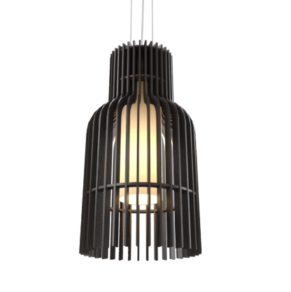 Pendant Lamp Accord Stecche Di Legno 1137 - Stecche Di Legno Line Accord Lighting | 02. Matte Black