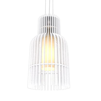 Pendant Lamp Accord Stecche Di Legno 1137 - Stecche Di Legno Line Accord Lighting | 07. White