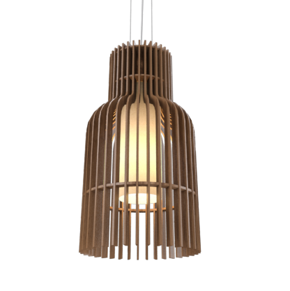 Pendant Lamp Accord Stecche Di Legno 1137 - Stecche Di Legno Line Accord Lighting | 18. American Walnut