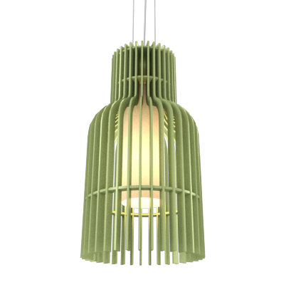 Pendant Lamp Accord Stecche Di Legno 1137 - Stecche Di Legno Line Accord Lighting | 30. Olive Green
