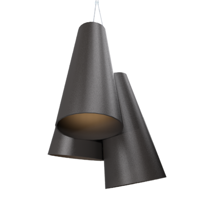 Pendant Lamp Triplo Cônico 1234 - CônicaLine Accord Lighting | 02. Matte Black