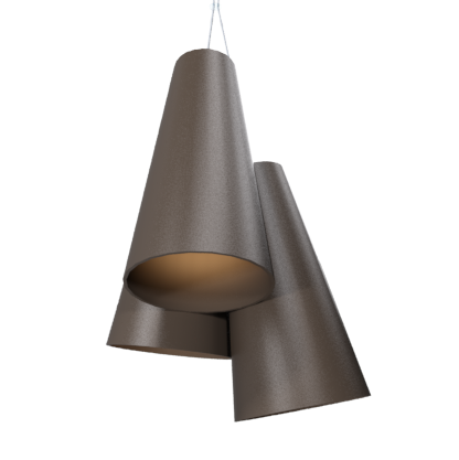 Pendant Lamp Triplo Cônico 1234 - CônicaLine Accord Lighting | 04. Tobacco