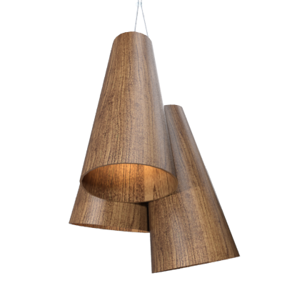 Pendant Lamp Triplo Cônico 1234 - CônicaLine Accord Lighting | 06. Imbuia