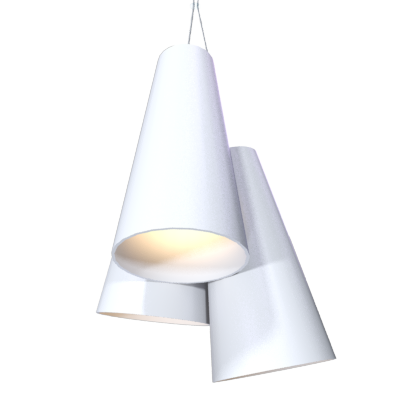 Pendant Lamp Triplo Cônico 1234 - CônicaLine Accord Lighting | 07. White