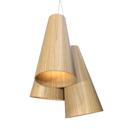 Pendant Lamp Triplo Cônico 1234 - CônicaLine Accord Lighting | 09. Louro Freijó
