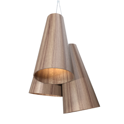 Pendant Lamp Triplo Cônico 1234 - CônicaLine Accord Lighting | 12. Teak