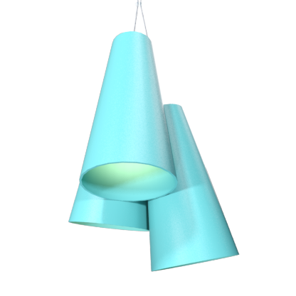 Pendant Lamp Triplo Cônico 1234 - CônicaLine Accord Lighting | 13. Bluish Green