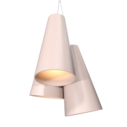 Pendant Lamp Triplo Cônico 1234 - CônicaLine Accord Lighting | 15. Cappuccino