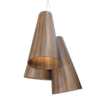 Pendant Lamp Triplo Cônico 1234 - CônicaLine Accord Lighting | 18. American Walnut