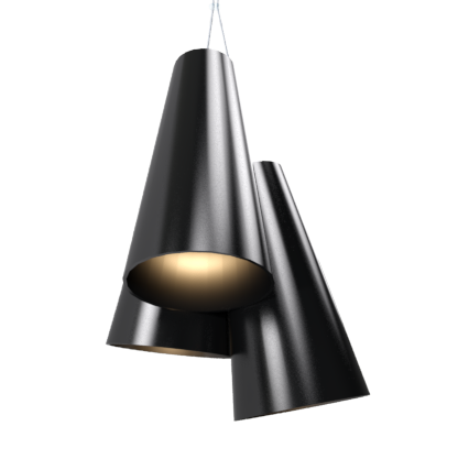 Pendant Lamp Triplo Cônico 1234 - CônicaLine Accord Lighting | 22. Glossy Black
