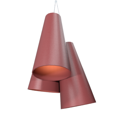 Pendant Lamp Triplo Cônico 1234 - CônicaLine Accord Lighting | 24. Marsala