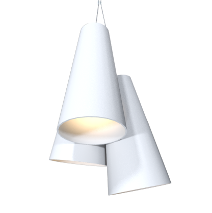 Pendant Lamp Triplo Cônico 1234 - CônicaLine Accord Lighting | 25. Iredescent White