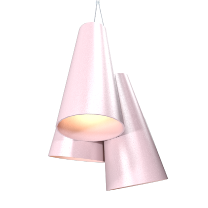 Pendant Lamp Triplo Cônico 1234 - CônicaLine Accord Lighting | 26. Light Pink