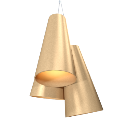 Pendant Lamp Triplo Cônico 1234 - CônicaLine Accord Lighting | 27. Gold