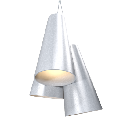 Pendant Lamp Triplo Cônico 1234 - CônicaLine Accord Lighting | 28. Silver
