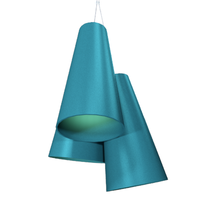 Pendant Lamp Triplo Cônico 1234 - CônicaLine Accord Lighting | 29. Teal