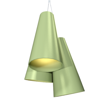 Pendant Lamp Triplo Cônico 1234 - CônicaLine Accord Lighting | 30. Olive Green