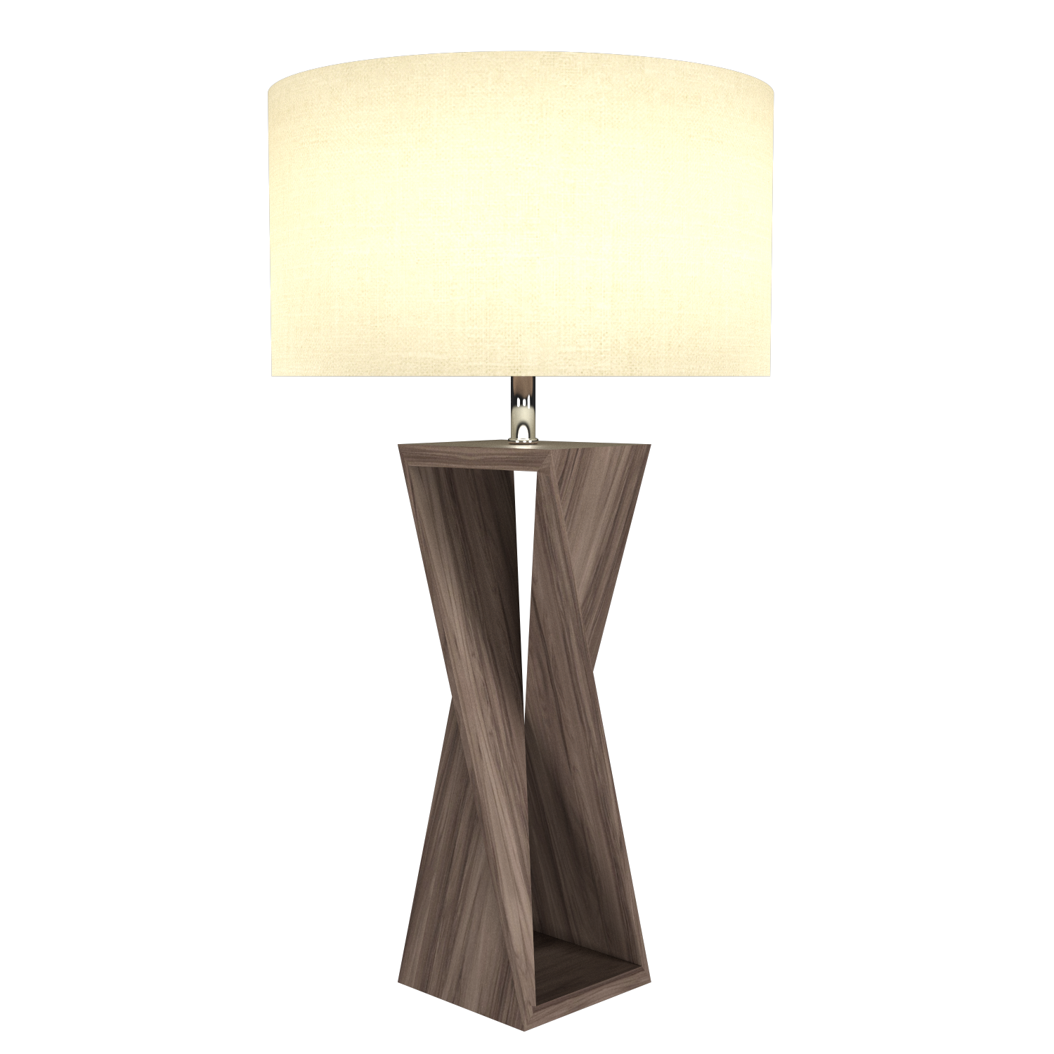 Table Lamp Accord Spin 7044 - Facetada Line Accord Lighting | 18. American Walnut