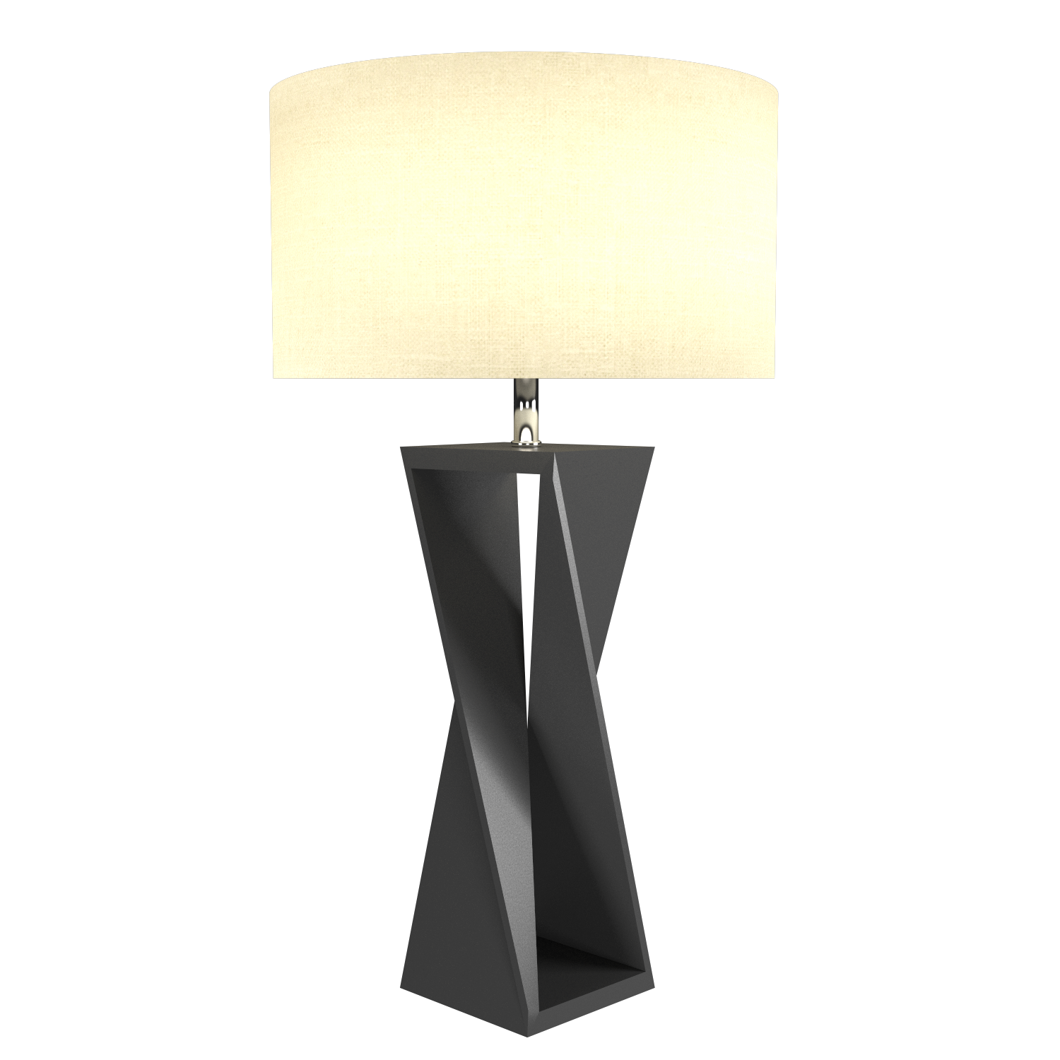 Table Lamp Accord Spin 7044 - Facetada Line Accord Lighting | Lead Grey