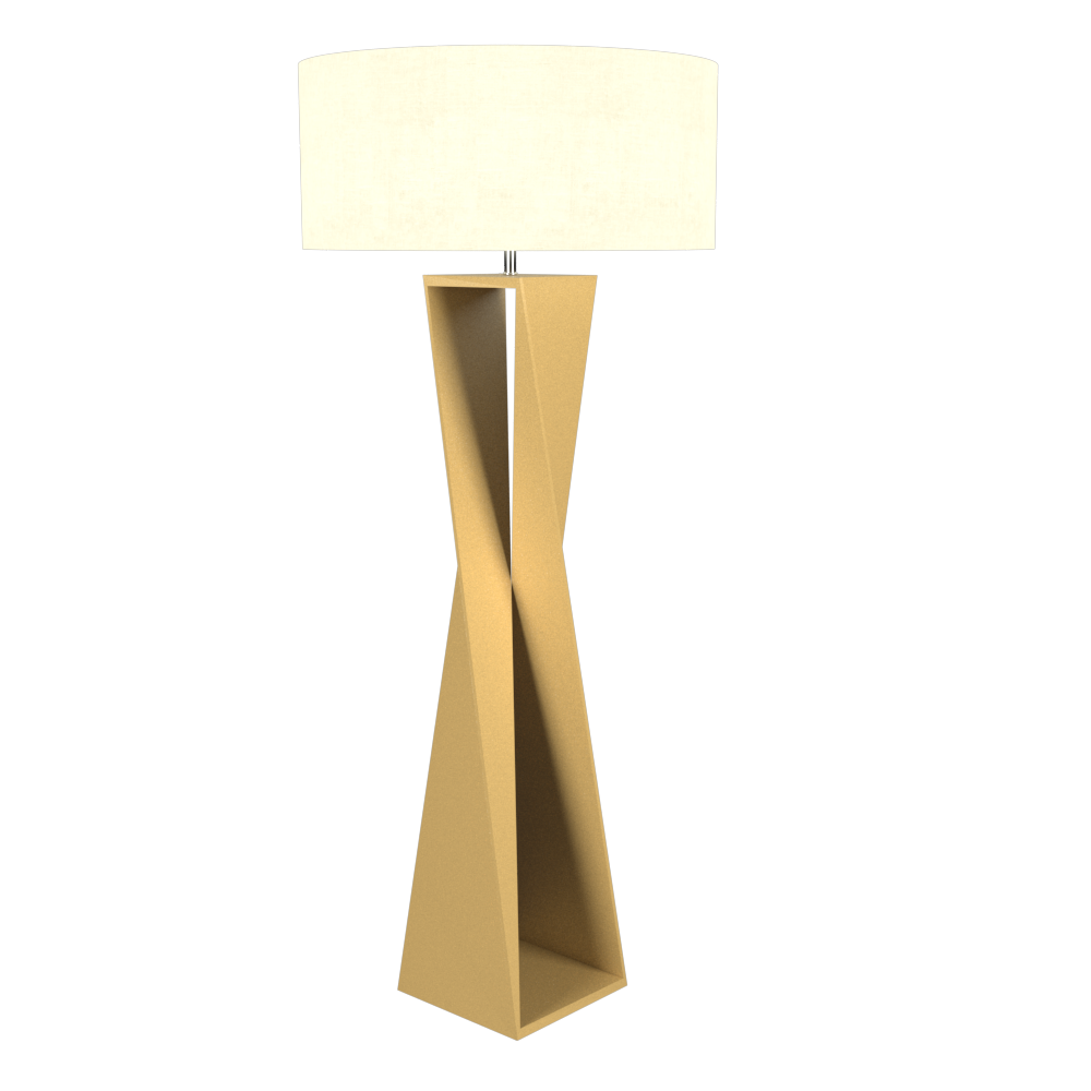 Floor Lamp Accord Spin 3029 - Facetada Line Accord Lighting | Pale Gold